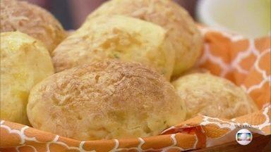 """Confira a receita de Gougère - Chef Emanuel Pinheiro mostra como fazer o """"pão de queijo francês"""""""
