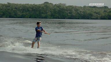 Wakeboard E Mergulho Em Itanhaém