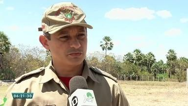 Corpo de bombeiros registra queimadas na vegetação de Sobral e Quixeramobim - Saiba mais em g1.com.br/ce