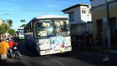 Juazeiro recebe cortejo dos carros de romeiros - Eles vão à cidade para a festa de Nossa Senhora das Dores