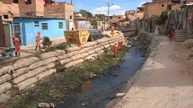 SLU recolhe 4 toneladas de lixo em mutirão de limpeza de córregos e rios em BH - Ação de limpeza foi feita na Região de Venda Nova para amenizar riscos antes do período chuvoso.