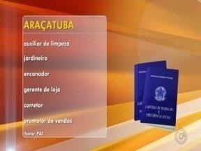 Rio Preto e Araçatuba oferecem oportunidades de emprego - Em São José do Rio Preto (SP) tem 95 vagas de emprego abertas. Os interessados devem procurar o Balcão de Empregos, na rua Ondina, número 216, na Redentora. E em Araçatuba (SP) também tem oportunidade. É só ir até o Posto de Atendimento ao Trabalhador (PAT), na rua Almirante Barroso, número 47.