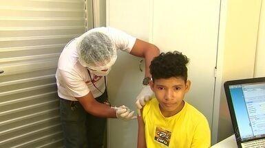 Mais de 10 mil crianças e adolescentes de Macapá já atualizaram caderneta de vacinação - Campanha Nacional de Multivacinação encerra na sexta-feira (22).