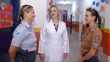 Quadro Hora do Trampo, em Dourados, fala sobre a mulheres em trabalho de risco - O Quadro Hora do Trampo mostra a iniciativa que três profissionais tiveram para provar que lugar de mulher é onde ela quiser.