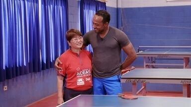 Hoje é dia de passar dos 60: a atleta - Alexandre Henderson apresenta Marlene Takahashi, 77 anos, jogadora de tênis de mesa