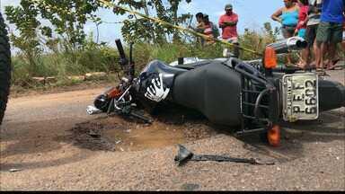 Jovem morre em acidente no município do Conde - Ele tentou desviar de buracos e acabou batendo de frente num ônibus.