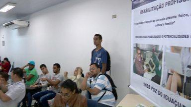 """Agência do Trabalhador realiza dia """"D"""" de inclusão ao trabalhador com deficiência - Procura foi alta na agência de Foz do Iguaçu."""
