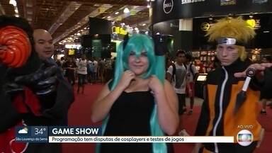 Multidão conhece os lançamentos na Brasil Game Show - Uma multidão de jovens e fãs de games estão conhecendo os lançamentos da maior feira de games da América Latina. Veja algumas novidades.
