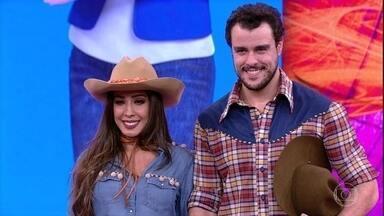 Joaquim Lopes e Tatiana Scarletti recebem notas dos jurados - Dupla recebe boas notas