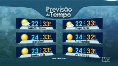 Veja a previsão do tempo nesta terça-feira (17) no MA - Dia de sol entre nuvens no Maranhão. As temperaturas permanecem altas.