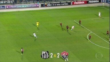 Veja como o Santos deixou escapar a chance de encostar no líder Corinthians - Veja como o Santos deixou escapar a chance de encostar no líder Corinthians