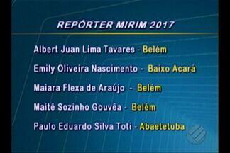 Confira o resultado do concurso Repórter Mirim da TV Liberal - Cinco crianças foram selecionadas, em Belém e no interior.