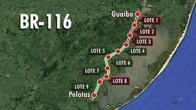 Lotes da duplicação da BR-116 estão parados no Rio Grande do Sul - Assista ao vídeo.