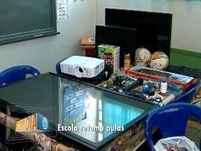 Escola alvo de furto e vandalismo retoma suas atividades - Unidade de ensino municipal fica em Rancharia.
