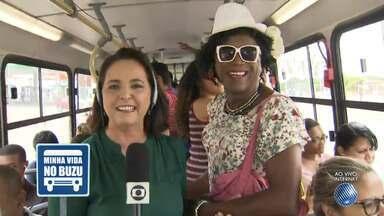 Minha Vida no Buzu: 'professora Matilde' anima passageiros e ensina boas maneiras - Confira o quadro desta terça-feira (24).