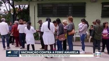 Vacinação contra a febre amarela será intensificada na Zona Norte de São Paulo - A partir desta quarta-feira (25), mais 25 unidades de saúde devem começar a vacinar as pessoas. A prefeitura quer imunizar 2,5 milhões de pessoas.