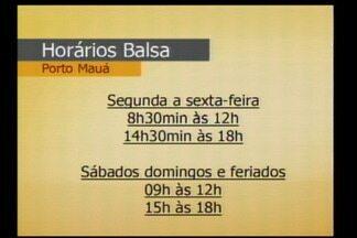 Retomada a travessia da balsa em Porto Mauá, RS - O Rio Uruguai está estabilizado em oito metros.