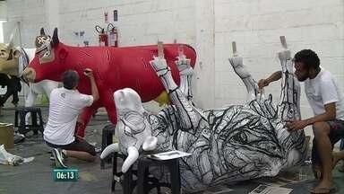 Exposição com esculturas de vacas chega ao Recife - Mostra já viajou por 80 cidades de 15 países