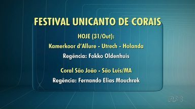 Festival de Corais começa nesta terça-feira (31) - 22 corais do Brasil e exterior participam do festival, que tem entrada gratuita.