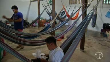 Famílias de refugiados são alojadas em antiga escola no bairro Cambuquira em Santarém - Os venezuelanos ficaram alojados em um prédio da Diocese de Santarém por um mês. Eles foram transferidos na tarde de terça-feira (1).