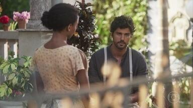 Inácio conversa com Tiana - Ele acredita que Lucinda está magoada com ele