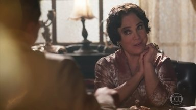 Lucerne conversa com Teodoro - Ela o aconselha a não comprar briga com Reinaldo Macedo