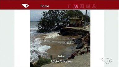 Mar avança e preocupa moradores na orla de Piúma, no Sul do ES - Prefeitura foi procurada, mas ainda não deu resposta.