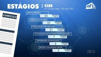 CIEE tem 50 vagas de estágio para o curso de administração - Veja outras vagas abertas em Maringá.