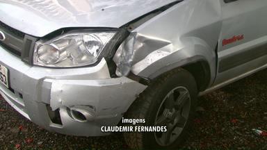 Casal sofre tentativa de assalto na BR-277 - Bandidos tentaram parar o veículo na rodovia.