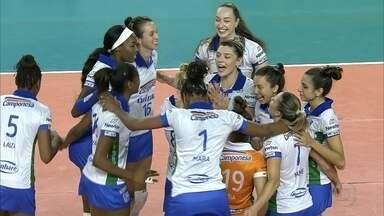 Minas vence o terceiro jogo seguido pela Superliga Feminina de Vôlei - Equipe minastenista virou o placar contra o Bauru