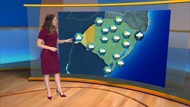 Tempo: frente fria pode provocar chuva na maior parte do RS na quinta-feira (9) - Assista ao vídeo.