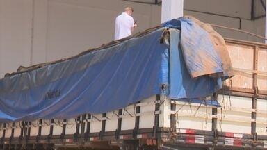 Em Vilhena, caminhão com mais de dez mil quilos de agrotóxico é apreendido - O condutor não tinha o curso obrigatório para transporte de produtos perigosos.