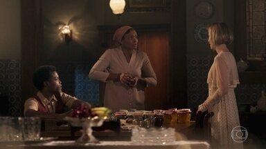 Celina pede que Pepito lhe dê o dinheiro da venda das geleias - Ela diz que quer pagar a dívida com François