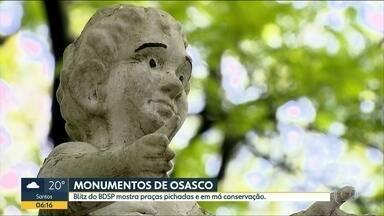 Blitz do BDSP mostra praças pichadas e em má conservação em Osasco - A Prefeitura De Osasco disse que reconhece o valor do monumento projetado por Oscar Niemeyer e que a capelinha está no programa de recuperação do patrimônio histórico da cidade.