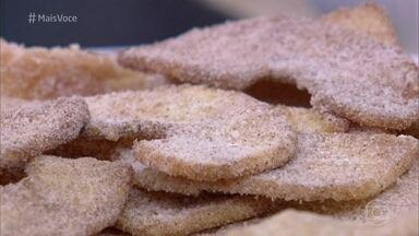 Maçã Frita - Anote a receita do aperitivo, que é servido acompanhado de um delicioso Molho de Caramelo
