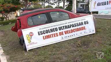 Campanha visa alertar motoristas sobre acidentes de trânsito em vários pontos de Santarém - Ação faz parte da Jornada de Radiologia. Campanha por segurança e prudência na direção tem o objetivo de impactar as pessoas a partir de um acidente automobilístico.