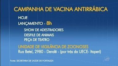 Campanha de vacinação contra raiva é lançada em Fortaleza - Saiba mais em g1.com.br/ce
