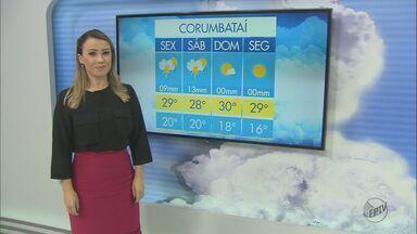 Confira a previsão do tempo em São Carlos e região nesta sexta-feira (10) - Confira a previsão do tempo em São Carlos e região nesta sexta-feira (10).
