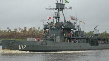 Marinha de Ladário tem navio de guerra mais antigo do Brasil - O 6º Distrito Naval de Ladário tem o navio de guerra mais antigo do Brasil em operação. É o Monitor Parnaíba.