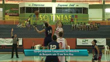 Terra Rica recebe atletas do Sul do país e do Paraguai em competição de basquete - É o Campeonato Sul-Brasileiro de Basquete Sub-15, que vai até este sábado, 11.