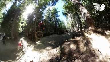 Fant360: sinta a emoção do mountain bike nas montanhas do Canadá - Uma paisagem que mais parece ter saído de um sonho serve de cenário para um esporte radical, que conjuga velocidade e técnica. Veja em 360º.