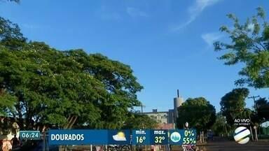 Terça-feira de sol e temperaturas elevadas em Campo Grande - Confira a previsão do tempo para esta terça-feira (14), em Mato Grosso do Sul.