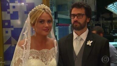 Vídeo Show mostra os bastidores do casamento de Samuel e Suzana - Eriberto Leão relembra outros casamentos que participou na ficção