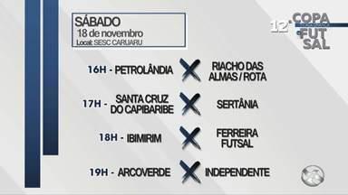Saiba quais são os jogos da Copa TV Asa Branca de Futsal deste sábado (18) - Jogos serão realizados no Sesc Caruaru.