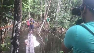 Só na Web: Confira os bastidores da viagem da equipe do Zapp até a Cachoeira do Mutum - Só na Web: Confira os bastidores da viagem da equipe do Zapp até a Cachoeira do Mutum