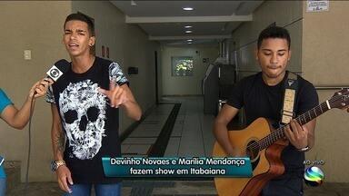 Devinho Novaes e Marília Mendonça fazem show em Itabaiana - Devinho Novaes e Marília Mendonça fazem show em Itabaiana.