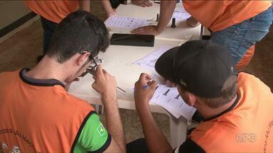 Gincana avalia conhecimento de alunos do Senar - A atividade reuniu jovens aprendizes de oito cidades do noroeste.