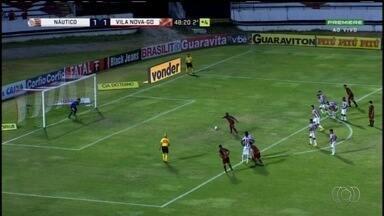 Vila sai na frente, cede empate para o Náutico, mas vence com gol no fim - Mesmo com resultado, time goiano não tem mais chance de acesso.