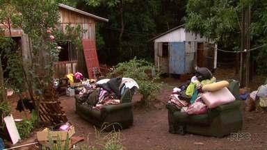 Famílias desabrigadas com a chuva começam a voltar pra casa em São Miguel do Iguaçu - Mais de 270 famílias foram afetadas pela chuva