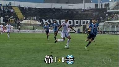 Santos vence o Grêmio por 1 a 0 na Vila Belmiro - Santos vence o Grêmio por 1 a 0 na Vila Belmiro